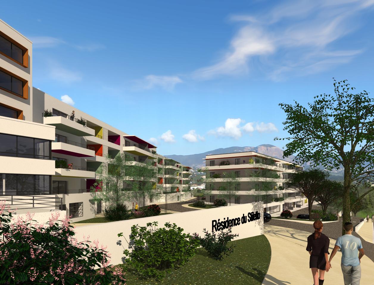 Residence du stiletto programme neuf ajaccio stiletto for Residence immobilier